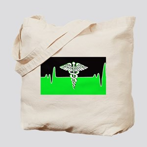 Medical Heart Beat Tote Bag