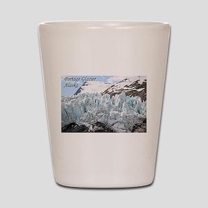 Portage Glacier, Alaska (with caption) Shot Glass