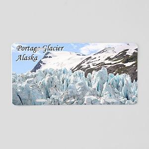 Portage Glacier, Alaska (wi Aluminum License Plate