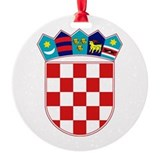 Croatian flag Round Ornament