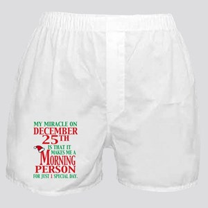 Miracle on December 25th Boxer Shorts