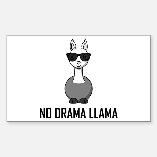 No Drama Llama Sunglasses Decal