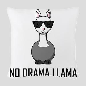 No Drama Llama Sunglasses Woven Throw Pillow