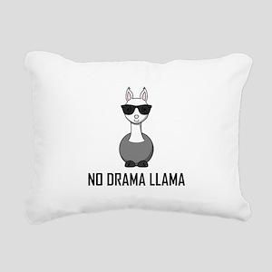 No Drama Llama Sunglasses Rectangular Canvas Pillo