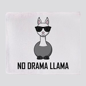 No Drama Llama Sunglasses Throw Blanket