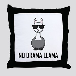 No Drama Llama Sunglasses Throw Pillow