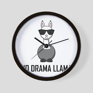 No Drama Llama Sunglasses Wall Clock