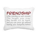 Friendship is like wet cement Rectangular Canvas P