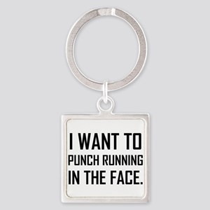 Punch Running In The Face Keychains
