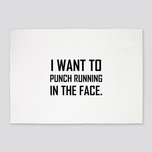 Punch Running In The Face 5'x7'Area Rug