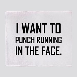 Punch Running In The Face Throw Blanket