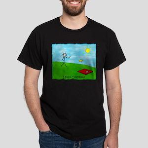 Stick Person I Play Cornhole Dark T-Shirt