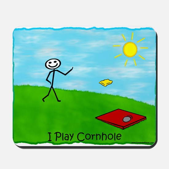 Stick Person I Play Cornhole Mousepad