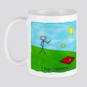 Stick Person I Play Cornhole Mug