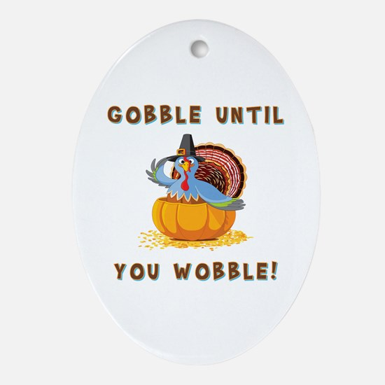 THANKSGIVING Ornament (Oval)