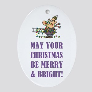 CHRISTMAS Ornament (Oval)