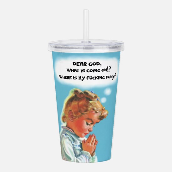 Dear God Acrylic Double-wall Tumbler
