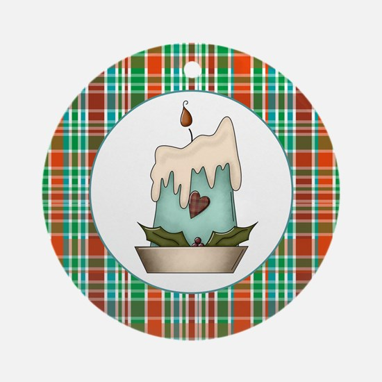 PLAID Ornament (Round)