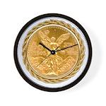 Mex Gold Wall Clock