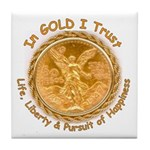 Mex Gold Tile Coaster