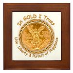 Mex Gold Framed Tile