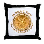 Mex Gold Throw Pillow