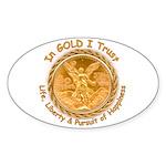 Mex Gold Oval Sticker