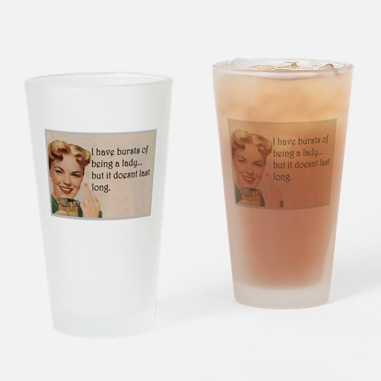 Being a Lady Drinking Glass