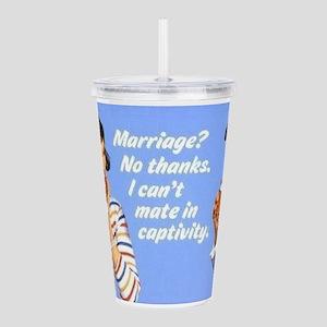Marriage? Acrylic Double-wall Tumbler