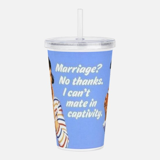 Marriage? Acrylic Double-wall Tumbler