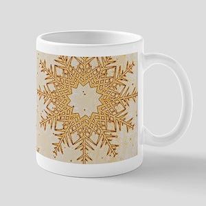 Snowflakes golden Mugs