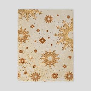 Snowflakes golden Twin Duvet