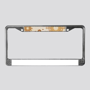 Snowflakes golden License Plate Frame
