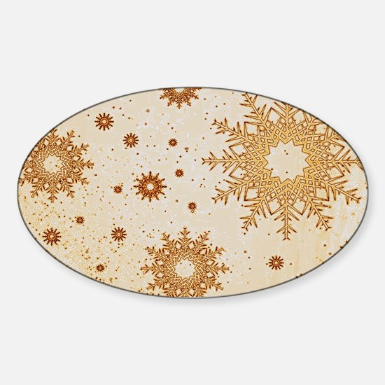 Snowflakes golden Decal