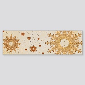 Snowflakes golden Bumper Sticker