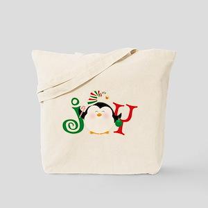 Christmas Penguin Joy 2 Tote Bag