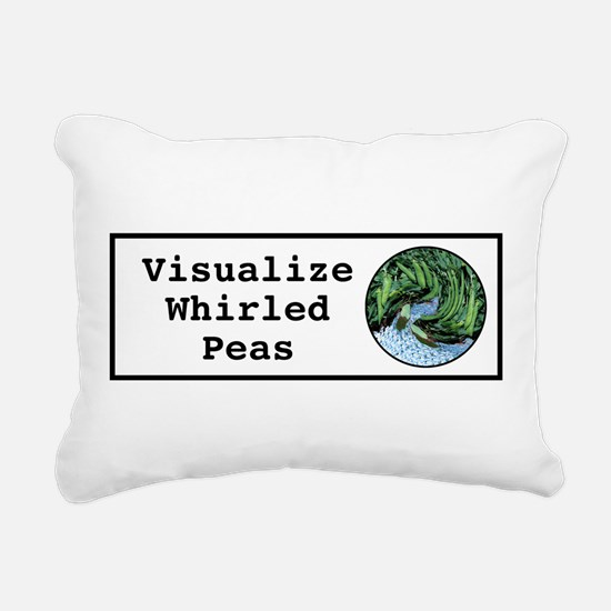 Visualize Whirled Peas Rectangular Canvas Pillow