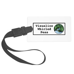 Visualize Whirled Peas Luggage Tag