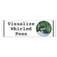 Visualize Whirled Peas Bumper Bumper Sticker