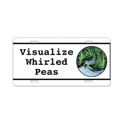 Visualize Whirled Peas Aluminum License Plate