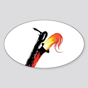 barisax-flame-ornR Sticker