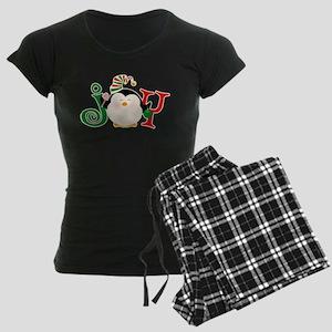Christmas Penguin Joy 2 Women's Dark Pajamas