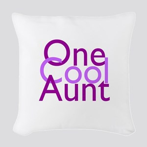 One Cool Aunt Woven Throw Pillow