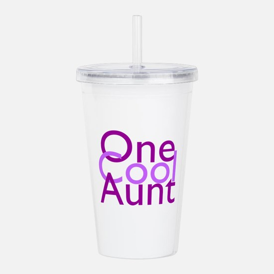One Cool Aunt Acrylic Double-wall Tumbler
