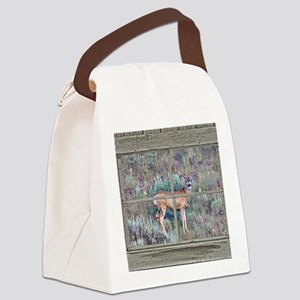 Old Cabin Window buck 2 Canvas Lunch Bag