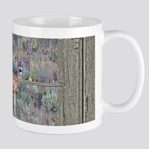 Old Cabin Window buck 2 Mug