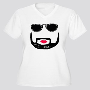 Sunglasses and a Goatee  Women's Plus Size V-Neck