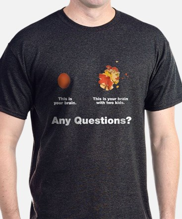 Brain with two kids T-Shirt