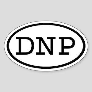 DNP Oval Oval Sticker