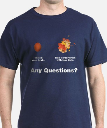 Brain with four kids T-Shirt